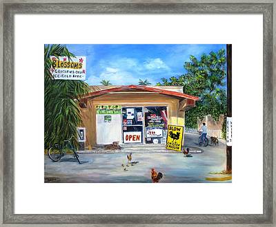 Blossoms Grocery Store Framed Print