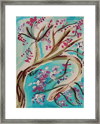 Blossoms In A Breeze Framed Print