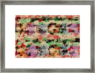 Framed Print featuring the digital art Blotched Up Divertimento 1 by Lon Chaffin