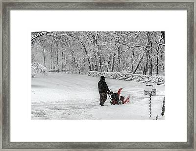 Blow By Blow Framed Print by Brian Wallace