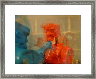 Blow By Blow Framed Print by Richard Reeve