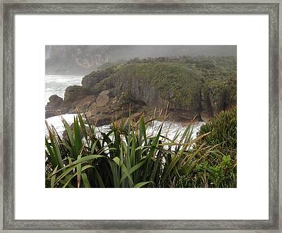 Blow Hole Framed Print by Ron Torborg