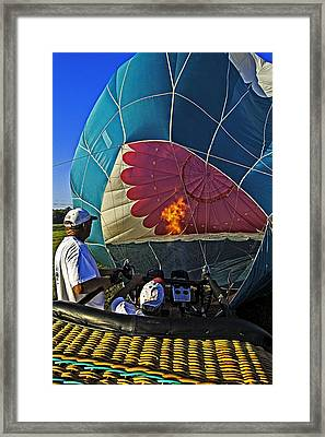 Blow It Up Framed Print by Andy Crawford