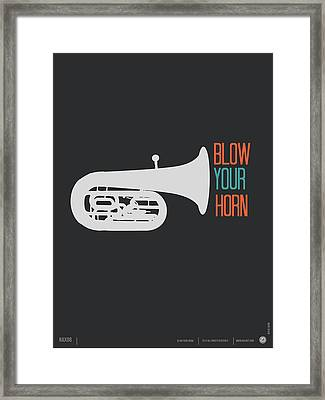 Blow Your Horn Poster Framed Print by Naxart Studio