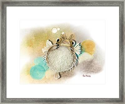 Blowfish Framed Print by Anne Beverley-Stamps