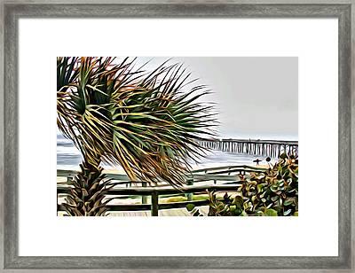 Blowin At The Beach Framed Print