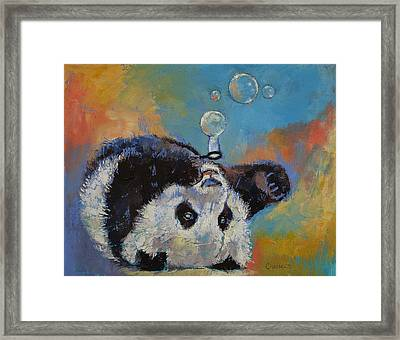 Blowing Bubbles Framed Print by Michael Creese
