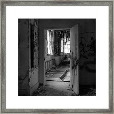 Blowing Curtains Framed Print