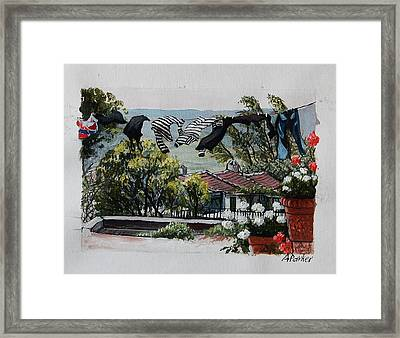 Blowing In The Wind Framed Print by Anne Parker
