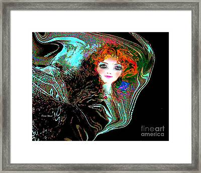 Blowing In The Wind Framed Print by Doris Wood