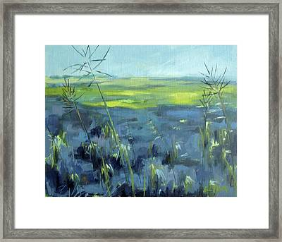 Blowing In The Wind Framed Print