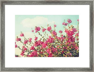 Framed Print featuring the photograph Blowing In The Wind by Sylvia Cook