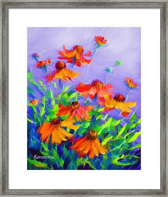 Blowing In The Wind Framed Print by Georgiana Romanovna