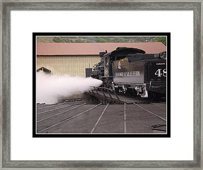 Blowing Off Steam Framed Print by T C Hoffman