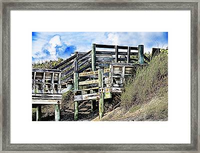 Framed Print featuring the photograph Blowing Rocks by Bill Howard