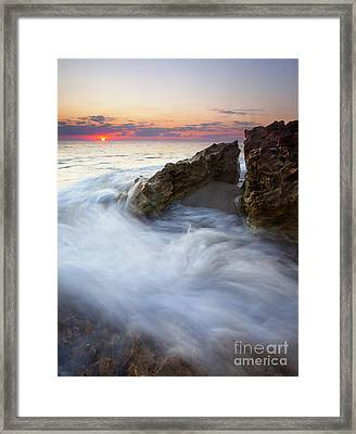 Blowing Rocks Sunrise Framed Print