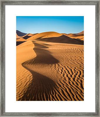 Blowing Sand - Color Sand Dune Photograph Framed Print by Duane Miller