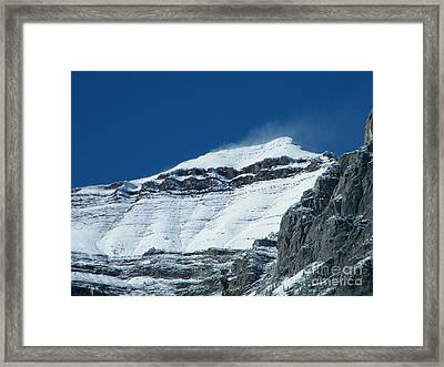 Framed Print featuring the photograph Blowing Snow by Ann E Robson