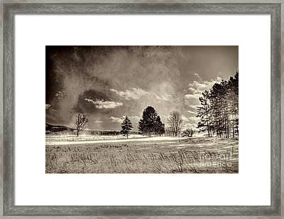 Blowing Snow Canaan Valley Framed Print by Dan Friend