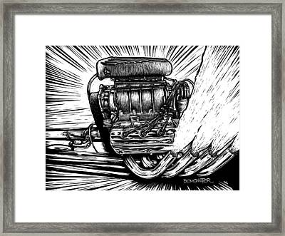 Blown Framed Print by Bomonster