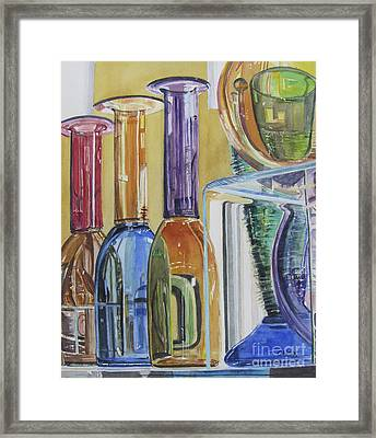 Blown Glass Framed Print