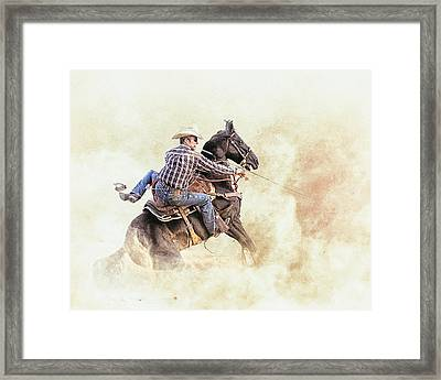 Blown Spur Framed Print by Ron  McGinnis