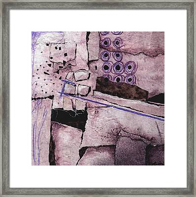 Blowout With Purple Framed Print by Laura  Lein-Svencner