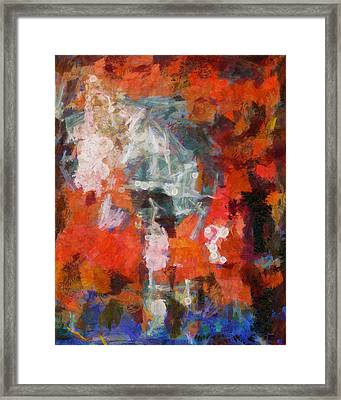Framed Print featuring the digital art Blows Away In The Wind by Joe Misrasi