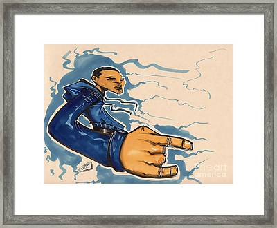 Blu Phi Framed Print by Tu-Kwon Thomas