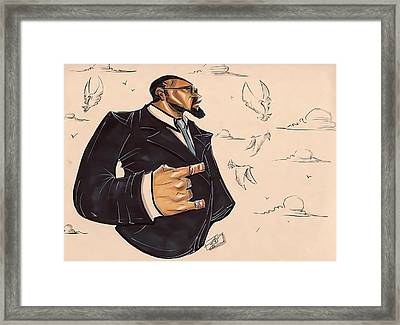 Blu Phi You Know Framed Print by Tu-Kwon Thomas