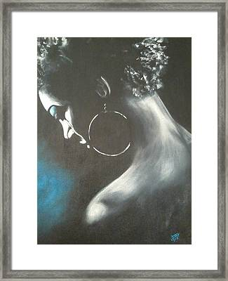 Blu Steele Framed Print by Jenny Pickens