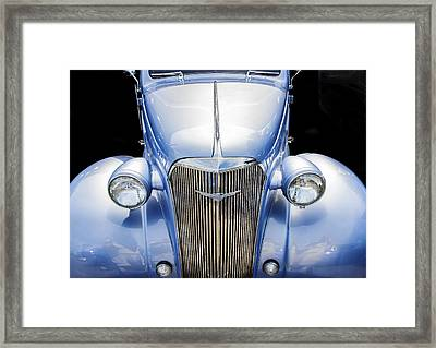 Blue 1937 Chevy Too Framed Print by Rich Franco