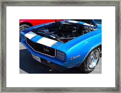 blue '69 Camaro Z28 Framed Print
