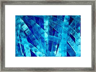 Blue Abstract Art - Paths - By Sharon Cummings Framed Print by Sharon Cummings