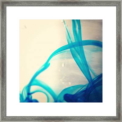 Blue Abstract Framed Print by Christy Beckwith