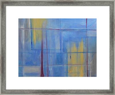 Blue Abstract Framed Print by Jamie Frier
