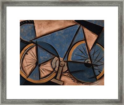 Tommervik Blue Abstract Ten Speed Art Print Framed Print by Tommervik