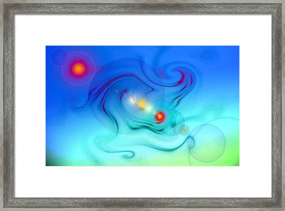 Blue Abstract The Beautiful Minu Framed Print by Frank Tschakert