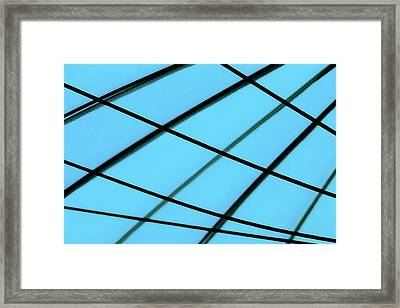 Blue Abstract Framed Print by Tony Grider