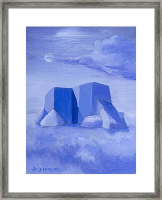 Blue Adobe Framed Print by Jerry McElroy