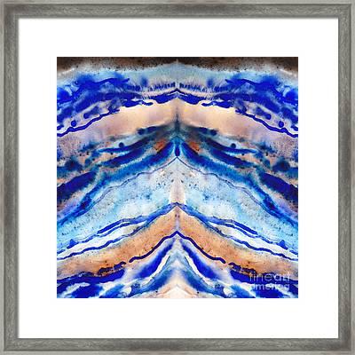 Blue Agate Abstract II Framed Print by Irina Sztukowski