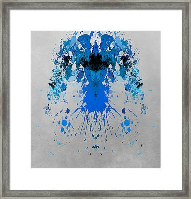 Blue Alien Framed Print