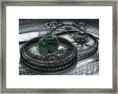 Dark Alien Landscape Framed Print