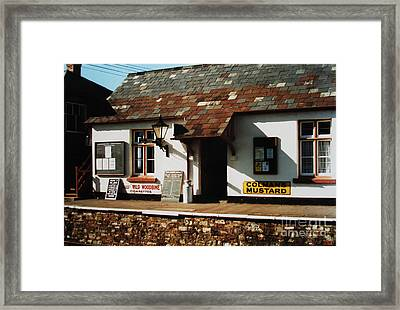 Blue Anchor Ticket Office Framed Print by Martin Howard
