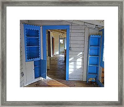 Abandoned Elkmont Cabin Old House Interior Framed Print by Rebecca Korpita