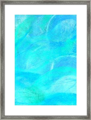 Blue And Aqua Abstract Framed Print