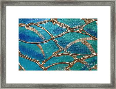 Blue And Gold Abstract Framed Print