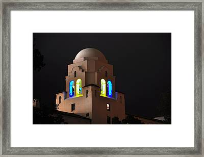 Blue And Gold I-house Dome Framed Print