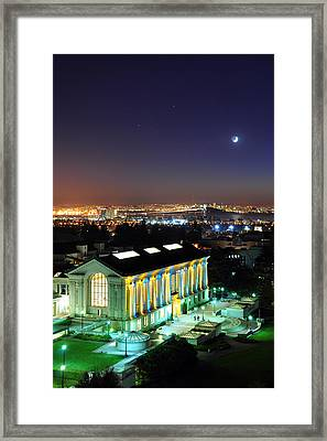 Blue And Gold Library And San Francisco Framed Print