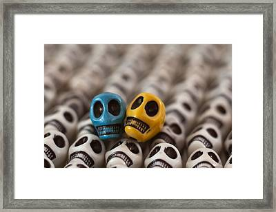 Blue And Gold Framed Print by Mike Herdering